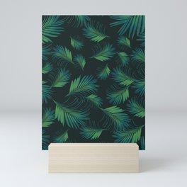 Tropical Night Palms Pattern #1 #tropical #decor #art #society6 Mini Art Print