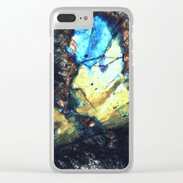 Colorful minerals Clear iPhone Case