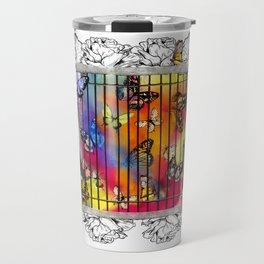 Butterfly Cage Match Travel Mug