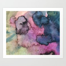 Ink Clouds Art Print