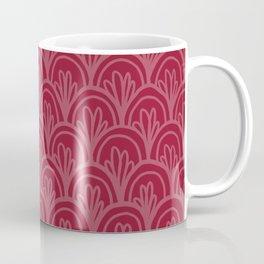 Raspberry Fancy Scale Pattern Coffee Mug