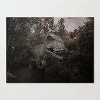 dinosaurs Canvas Prints featuring Dinosaurs by TaLins