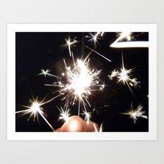 Sparkling Sparklers Art Print