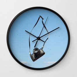 The Flying Camera Wall Clock