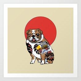 Yakuza English Bulldog Art Print
