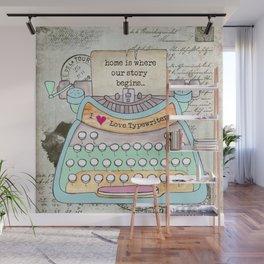Typewriter #4 Wall Mural