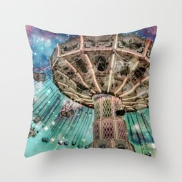 Dip Your Toes In the Stars Throw Pillow