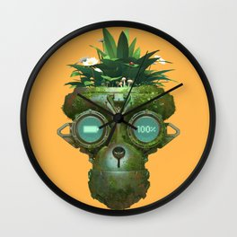 Robot With a Purpose No. 2 Wall Clock