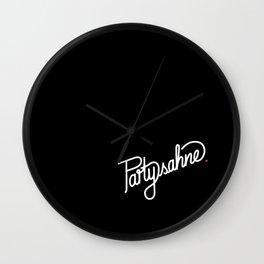 Partysahne   [black & white] Wall Clock