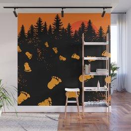 Bigfoot Tracks At Sunset Wall Mural