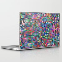 stained glass Laptop & iPad Skins featuring stained glass by spinL