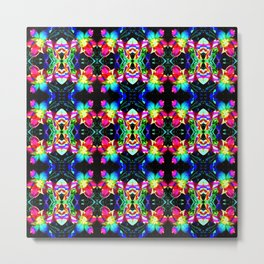 Colorful  Bright Seamless Flower Pattern Metal Print