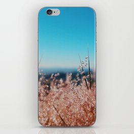 Whispering Grass Turquoise Sky iPhone Skin