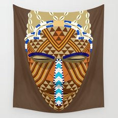 African mask Wall Tapestry