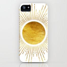 Golden Sunburst Starburst White Hot iPhone Case