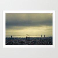 barcelona Art Prints featuring Barcelona by Roberta Vilas Boas