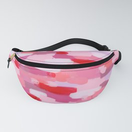 Abstract Painting Pin Pattern Acrylic - Meet Me In The Red Woods Fanny Pack