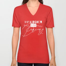 Funny Quote My Kitchen Is For Dancing Unisex V-Neck