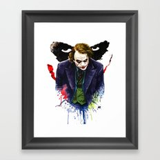 Angel Of Chaos (The Joker) Framed Art Print