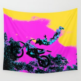 Letting Go - Freestyle Motocross Stunt Wall Tapestry