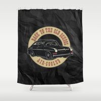 old school Shower Curtains featuring Old School by Maestral