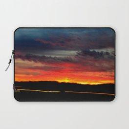 Night Lights Moving Sunset 21 Laptop Sleeve
