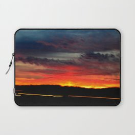 Night Lights Moving Sunset 21 Laptop Sleeve