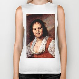 """Frans Hals """"Young woman (The Gypsy Girl)"""" Biker Tank"""
