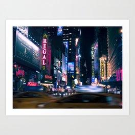 Neon Signs in New York, USA / Night City Series Art Print