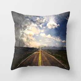 Route Throw Pillow