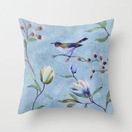 Summer bird Throw Pillow