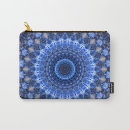 Glowing mandala in blue tones Carry-All Pouch