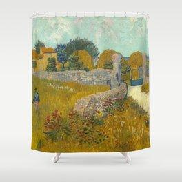 Vincent van Gogh - Farmhouse in Provence Shower Curtain