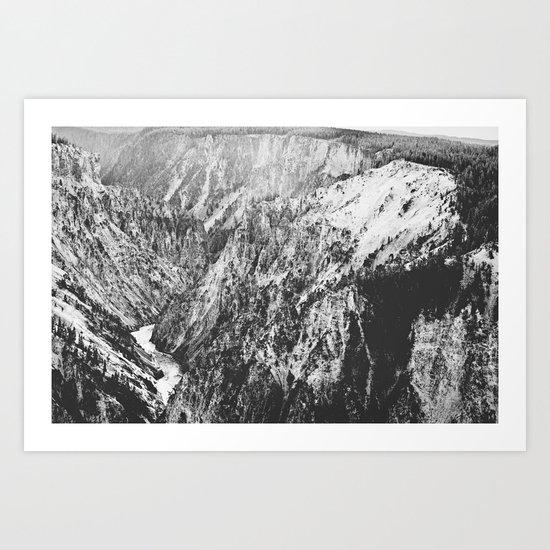 Canyon Black and White Art Print