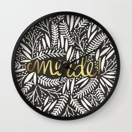 Pardon My French – Gold on Black Wall Clock