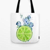lemon Tote Bags featuring Lemon by jausrine