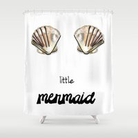 little mermaid Shower Curtains featuring Mermaid by terezamc.