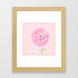 Flower D Framed Art Print