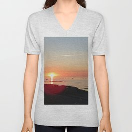 Kayak and the Sunset Unisex V-Neck