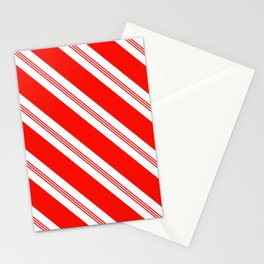 Candy Cane Stripes Holiday Pattern Stationery Cards