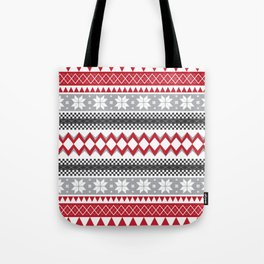 Winter Pattern Tote Bag