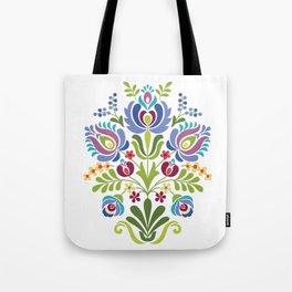 Hungarian Folk Design Violet Tote Bag
