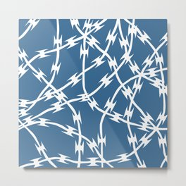 Blue Barb Metal Print