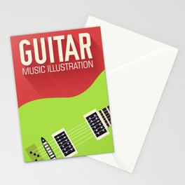 Electric Guitar Poster Stationery Cards