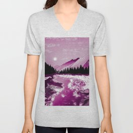 River and rocks Unisex V-Neck