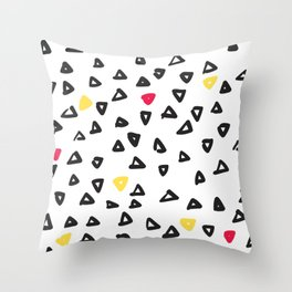 doodle triangles Throw Pillow