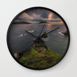 Dun Chaoin Pier, Dunquin - Ireland (RR250) Wall Clock
