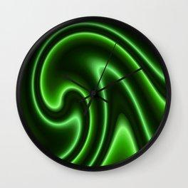Abstract green 146 Wall Clock