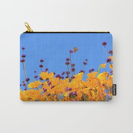 Painted Lady Butterfly loving the Superblooms of Spring by Reay of Light Photography Carry-All Pouch