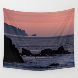 Oregon Coast Sunset Wall Tapestry